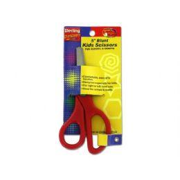 72 Bulk 5 Inch Blunt Kids Scissors