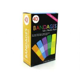 72 Bulk Fun Color Bandages
