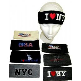 144 Bulk Assorted Winter Headbands For Adults