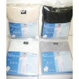 48 Bulk Boys Thermal Underwear Sets