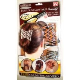 48 Bulk Ez Combs Stretchable Double Combs