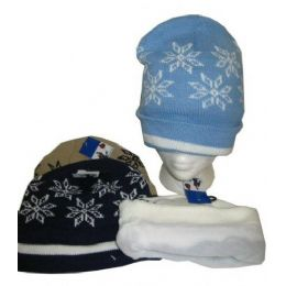 96 Bulk Fleece Lined Acrylic Winter Hat