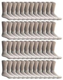 60 Bulk Yacht & Smith Kids Cotton Crew Socks White Size 6-8