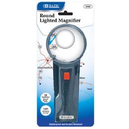 "24 Bulk 2.5"" Round 3x Lighted Magnifier"