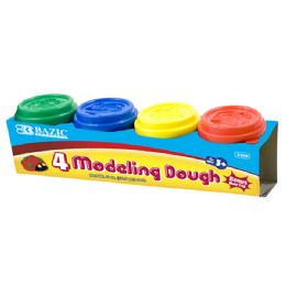 36 Bulk 2 Oz. Multi Color Modeling Dough (4/pack)
