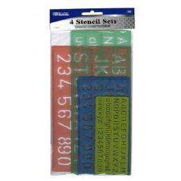 24 Bulk 4 Pack Lettering Stencil Sets