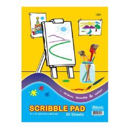 """48 Bulk Scribble Pad 9""""x 12"""""""