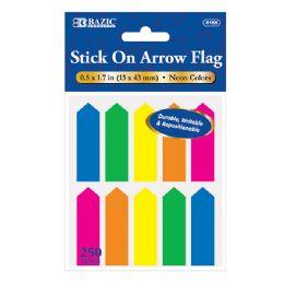 """24 Bulk 25 Ct. 0.5"""" X 1.7"""" Neon Color Arrow Flags (10/pack)"""