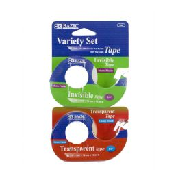"24 Bulk 3/4"" X 600"" Invisible & Transparent Tape Variety Set (2/pack)"