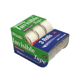 "24 Bulk 3/4"" X 500"" Invisible Tape (3/pack)"