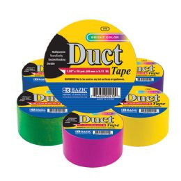"36 Bulk 1.88"" X 10 Yard Assorted Fluorescent Colored Duct Tape"