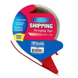 "36 Bulk 1.88"" X 27.3 Yards Super Clear Heavy Duty Packing Tape With Dispenser"