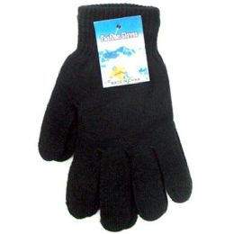 240 Bulk Black Magic Gloves Large Size One Size Fits All Stretch Magic Winter G