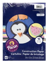 12 Bulk Pacon Creative Products Construction Paper 40 Sheets