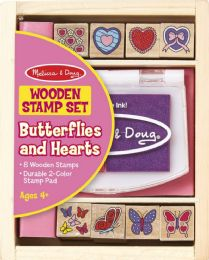 6 Bulk Butterfly And Heart Stamp Set