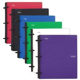 6 Bulk Five Star Flex 1 Subject College Ruled Hybrid Notebook Binder, 80 Sheets, Assorted Colors