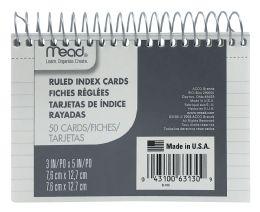 12 Bulk Mead Wirebound Ruled Index Cards