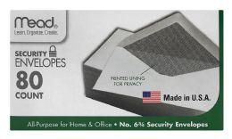12 Bulk Mead #6 3/4 Security Envelopes White #6 3/4