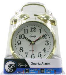 6 Bulk Keywind Twin Bell Alarm Clock