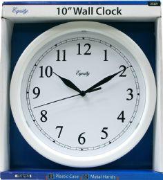 6 Bulk Wall Clock 10'' White