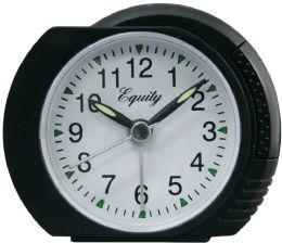 6 Bulk Black Analog Alarm Clock