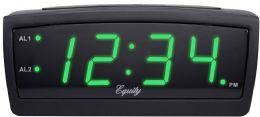 6 Bulk Greenled Alarm Clock 0.9in