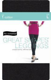 4 Bulk Cotton Shape Leggns Blk Lg