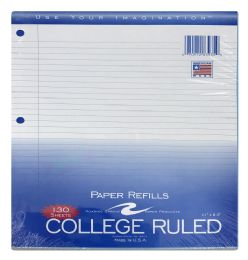 48 Bulk Roaring Spring College Ruled Filler Paper, 11 InchX8.5 Inch, 130 Sheets