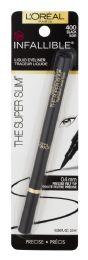 8 Bulk L'oreal Paris Infallible Super Slim LonG-Lasting Liquid Eyeliner, Black, 0.034 Fl. Oz.