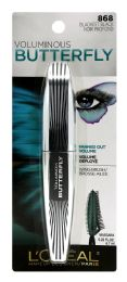 6 Bulk L'oreal Paris Voluminous Butterfly Lengthening Washable Mascara, Blackest Black, 0.22 Fl. Oz.