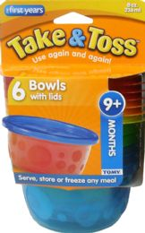 6 Bulk Bowl Take Toss 8Oz W/Lid 6Pk