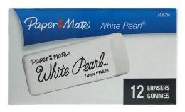 24 Bulk Paper Mate White Pearl Erasers 12