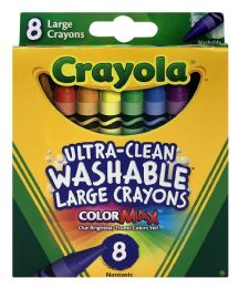 12 Bulk Crayola UltrA-Clean Washable Large Crayons Color Max