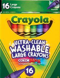 6 Bulk Crayon 16ct Jumbo Washable