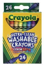 12 Bulk Crayola UltrA-Clean Washable Crayons 24 Count