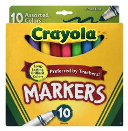 12 Bulk Crayola Markers Assorted Colors 10