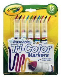 6 Bulk Crayola Washable TrI-Color Markers