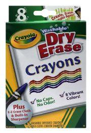6 Bulk Crayola Washable Dry Erase Crayons 8