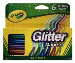 6 Bulk Crayola Glitter Markers