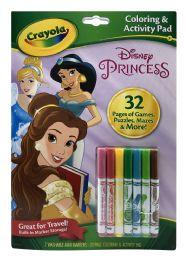 6 Bulk Crayola Disney Princess Coloring & Activity Pad