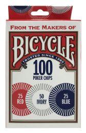 6 Bulk Bicycle 100 Poker Chips
