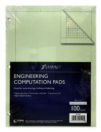 10 Bulk Ampad Engineering Computation Pad, Cross-Section Rule (5 X 5), Green Tint Paper