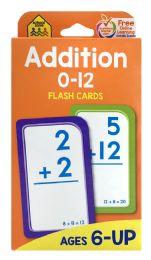 8 Bulk School Zone Addition Flash Cards 0-12