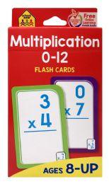 8 Bulk School Zone Multiplication O-I2 Flash Cards