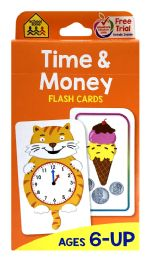 8 Bulk School Zone Time & Money Flash Cards