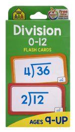 8 Bulk School Zone Division 0-12 Flash Cards