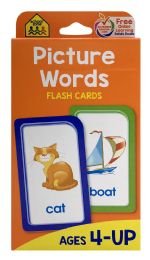 8 Bulk School Zone Picture Words Flash Cards