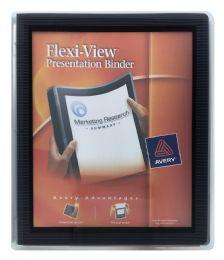 24 Bulk Avery FlexI-View 1/2 Inch Binder, 1/2 Inch Round Rings, 100-Sheet Capacity, Navy Blue
