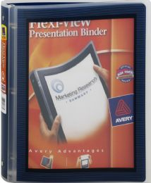 24 Bulk Avery FlexI-View Binder With 1 Inch Round Ring, Assorted Colors