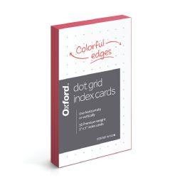 36 Bulk Oxford Dot Grid Index Cards, 3 Inch X 5 Inch, 50 Per Pack